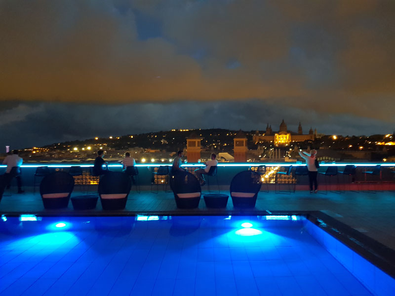 Rooftop bar, Hotel Catalonia Plaza